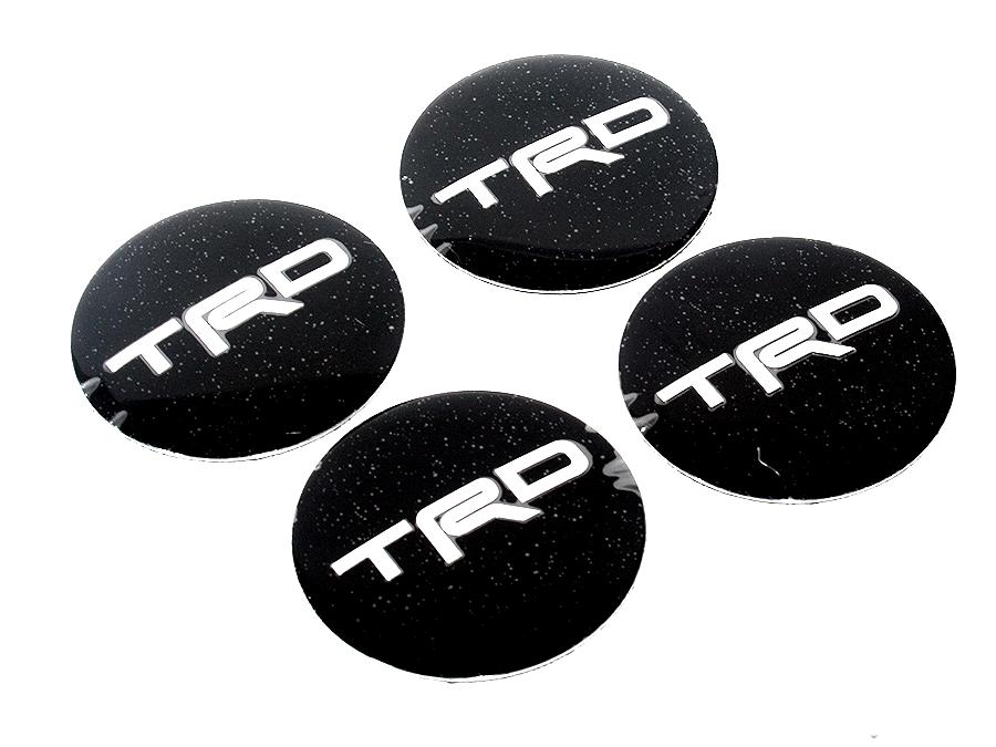 Toyota TRD Black Mag Wheel Decals (set of 4)-0