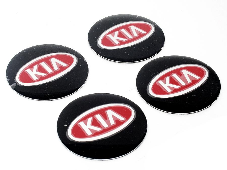 Kia Black & Red Mag Wheel Decals (set of 4)