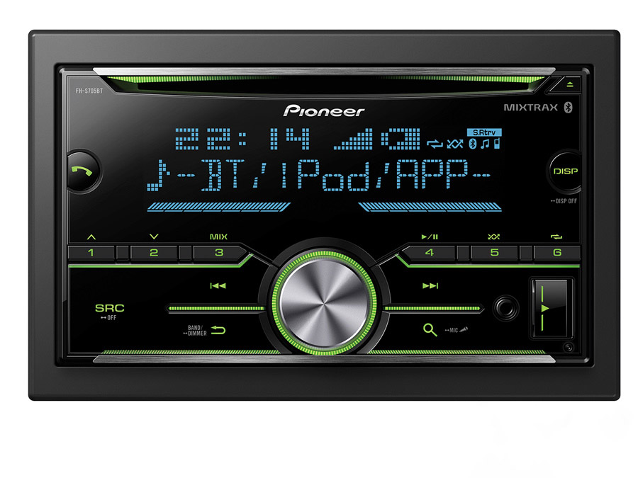 Pioneer FH-S705BT Double-Din with Bluetooth & USB