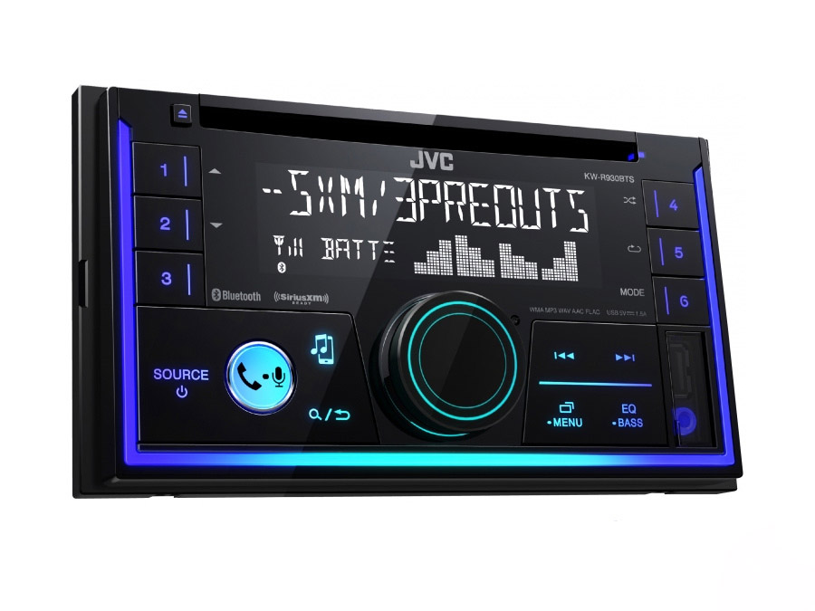 JVC KW-R930BT Double Din CD with Bluetooth/USB