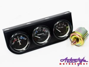 STP 3-in-1 Gauge Set (amp/oil/temp)-0