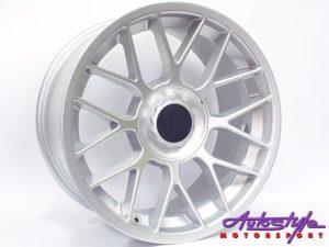 """17"""" Axe DLX 5/100 & 5/120 Silver Alloy Wheels-0"""