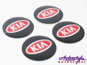 Kia Black & Red Mag Wheel Decals (set of 4)-0