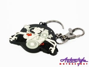 VW Beetle Engine Decorative Keyring-0