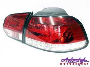 VW Golf Mk6 Red Rear Tailights-0