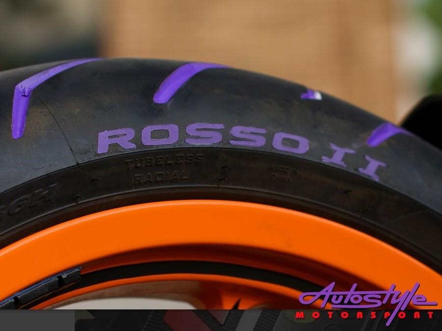 Tire Penz Tyre Paint Blazin' Orange with REFLECT-28793