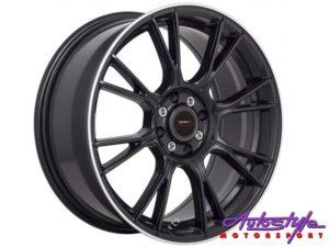 """17"""" A-Line Vixen 4/100 & 4/108 STBKML Alloy Wheels-0"""