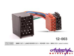 ISO Harness for Bmw 1987+, Land Rover & Mini-0