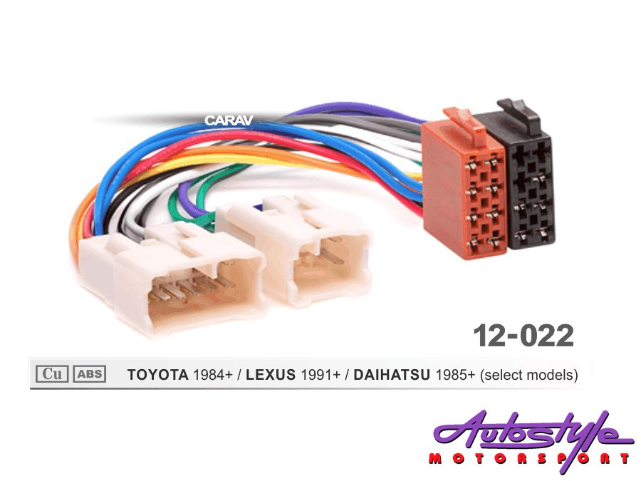 ISO Harness for Toyota 1984+ -0