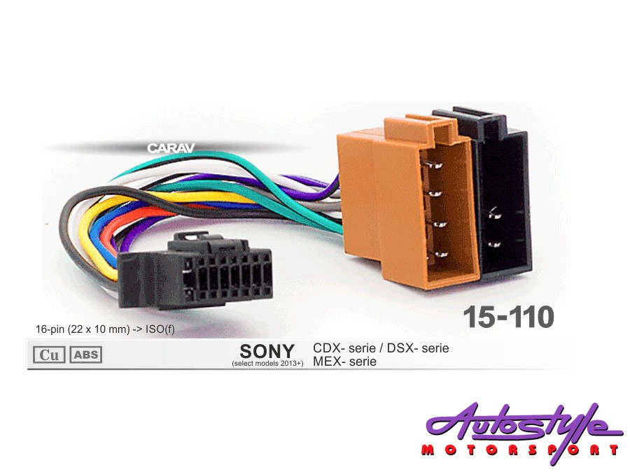 Iso Harness For Sony Head Units