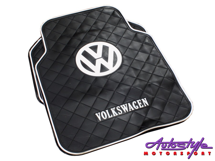 Volkswagen Design Rubber Car Mats-0