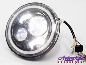 "Jeep 7"" Hi/Lo Angel Eye Headlights (pair)-0"