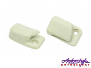 VW Classic Beetle Sunvisor Clips (ivory)-0