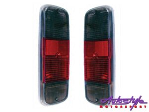 VW Classic Bus 72-79 Smoke/Red Tailights (pair)-0
