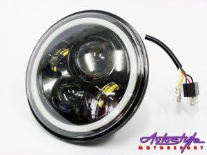 "Jeep 7"" Hi/Lo Angel Eye Headlights (pair)-28737"