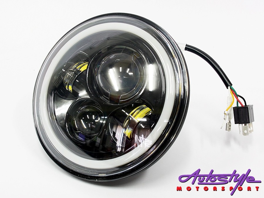 "Jeep 7"" Hi/Lo Angel Eye Headlights (pair)-28737"