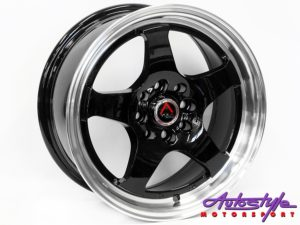 "15"" KS066 4/100 & 4/108 BKML Alloy Wheels-0"