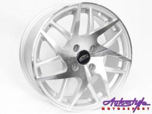 """15"""" Evo Warrior 4/100 Silver Alloy Wheels-0"""
