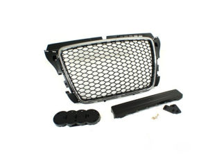 Audi A3 2008+ Chrome & Black Mesh Grille-0