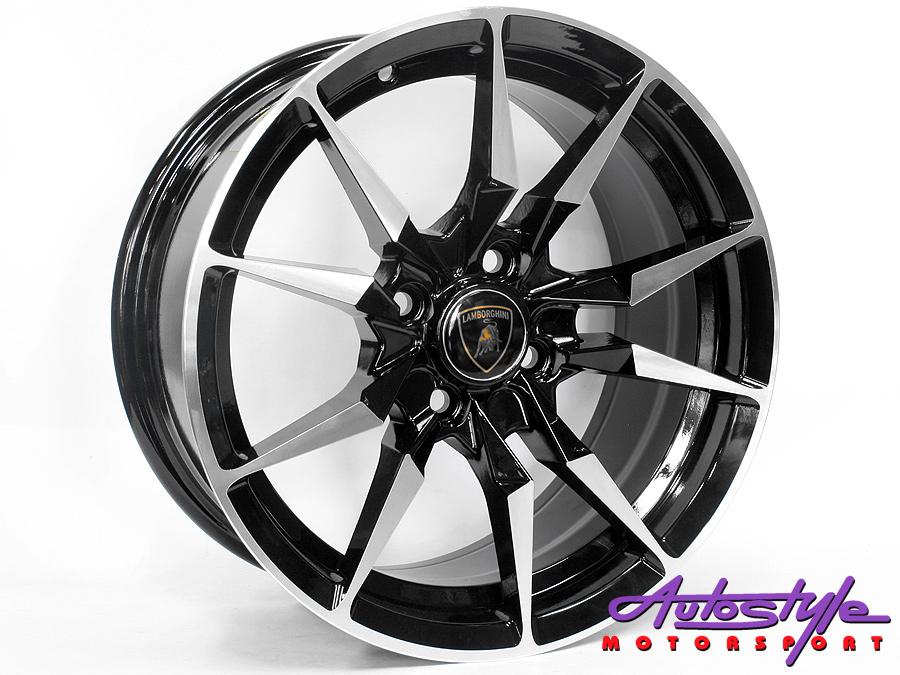 17″ Axe Lp-700 5/100 BKMF Alloy Wheels