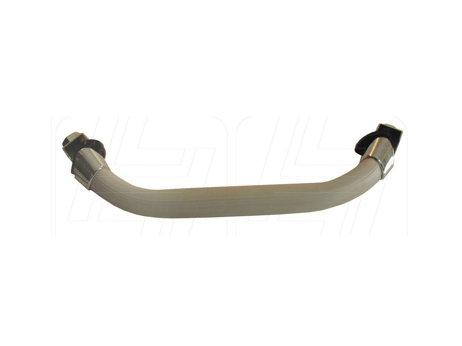 VW Classic Beetle Dashboard Grab Handle Silver Beige with Chrome Mounts