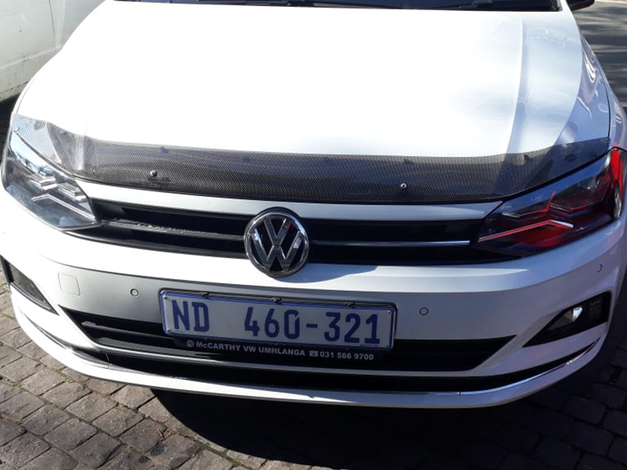 VW Polo 8 2018+ Carbon Look Bonnet Guard