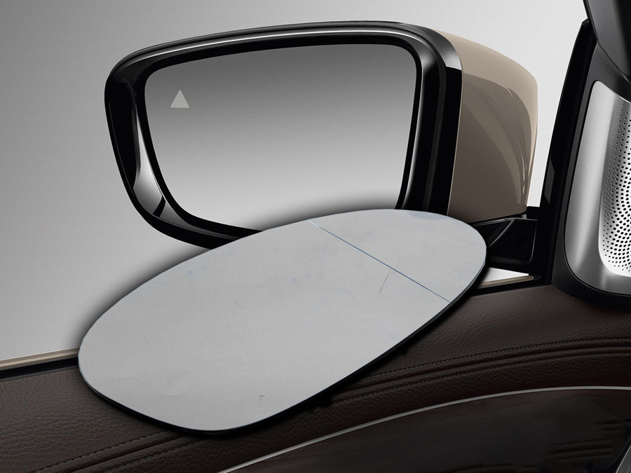 Replacement Mirror Glass Suitable for E81/E90 (LHS with base)