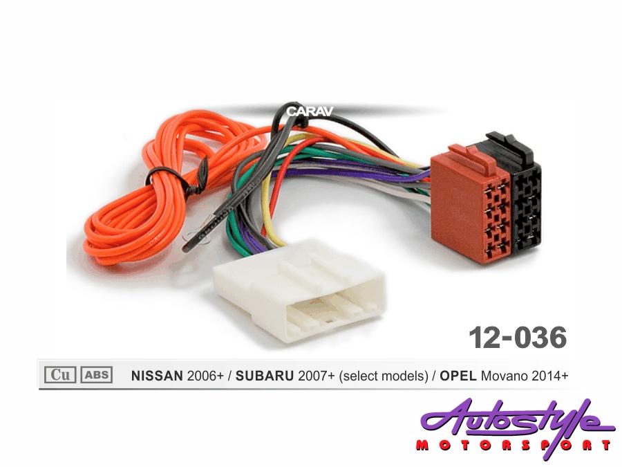 ISO Harness for Nissan & Subaru 2006+-0