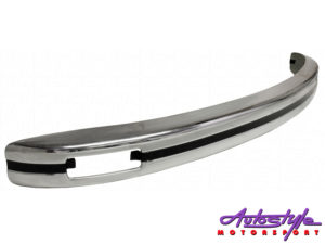 VW Classic Beetle Chrome Europa Front Bumper with Indicator Slots-0