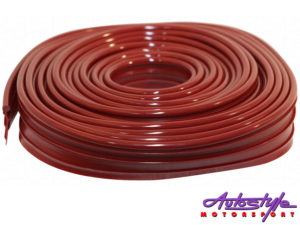 VW Classic Beetle Wing Beading Roll Ruby Red-0
