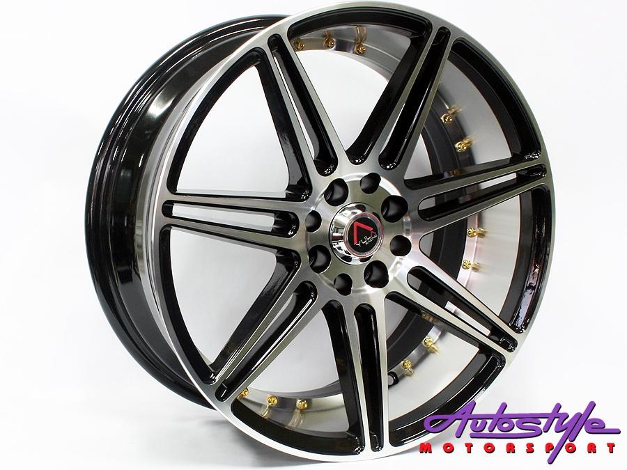 """17"""" GR Z382 4/100 & 4/108 BKMF Alloy Wheels-0"""
