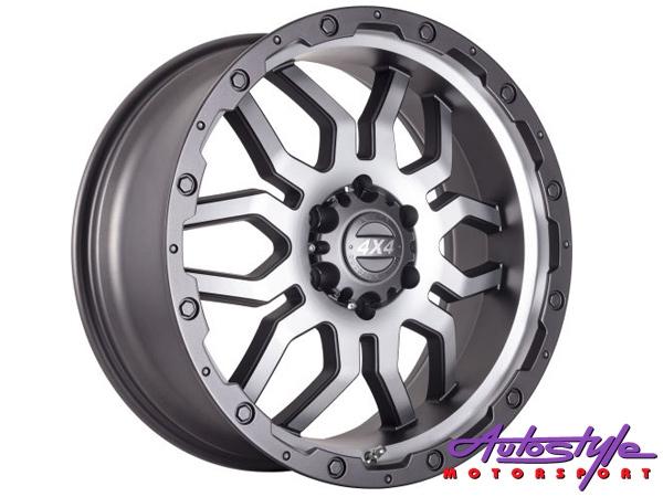 18″ A-Line Mudzilla 6/139 CHGMF Alloy wheels