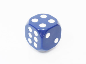Blue Dice Decorative Gear shift knob-0