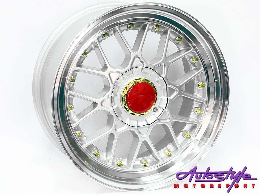 """17"""" BSS GL 4/100 & 4/108 Silver Alloy Wheels-0"""