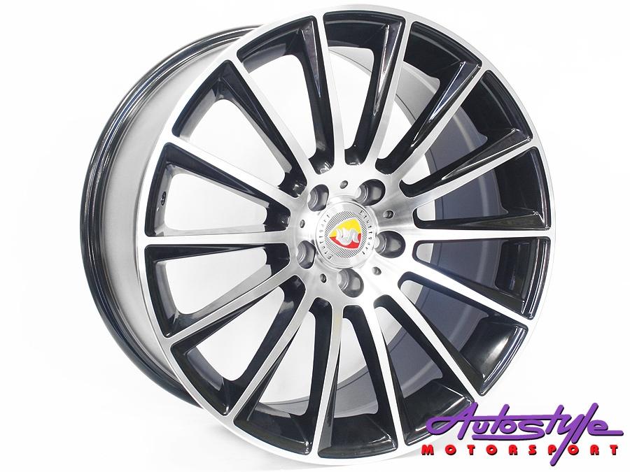 19″ R-Line 1241 5/112 BKMF Alloy Wheels