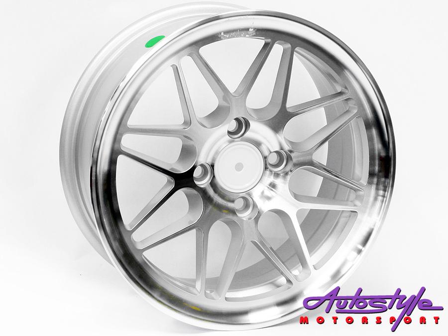 "14"" CLG46 4/100 Silver Alloy Wheels-0"