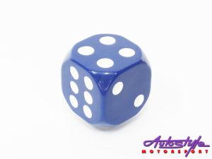 Blue Dice Decorative Gear shift knob-0