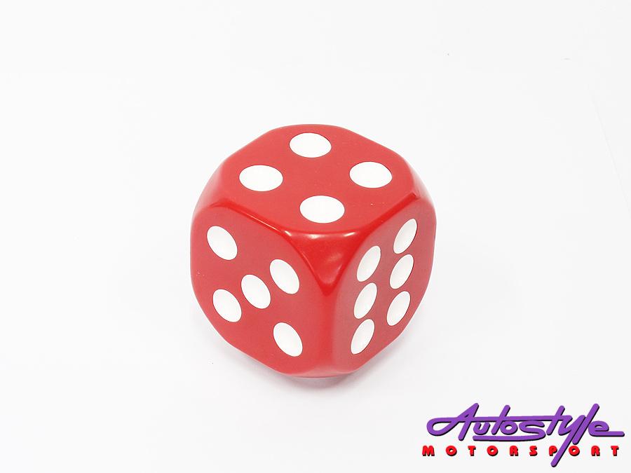 Red Dice Decorative Gear shift knob-0