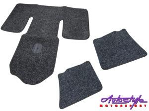 Charcoal 5pc Floor mats for Classic VW Beetle (65-74)-0