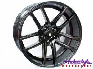 """20"""" AV105 5/120 Matt Black Alloy Wheels-0"""