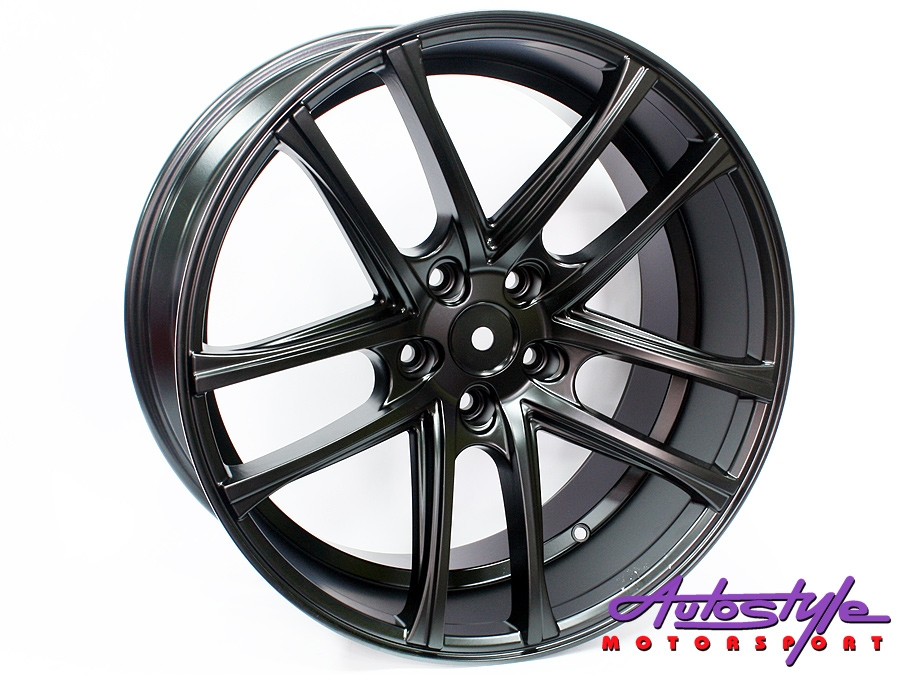 "20"" AV105 5/120 Matt Black Alloy Wheels-0"