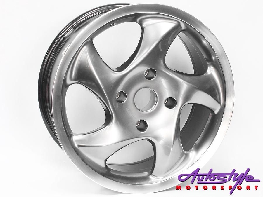 """17"""" Blade 4/130 Grey Alloy Wheels-0"""