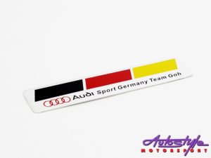Audi Sport Team Germany Sticker Badge (2.5x12cm)-0