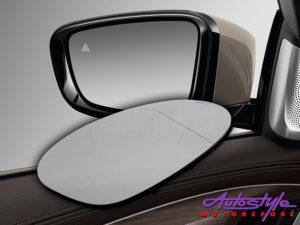 Replacement Mirror Glass for Audi A3/A4/A5/A6/Q3 (LHS Passenger) -0