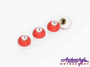 Decorative Pool Ball Style Wheel Valve Caps-0