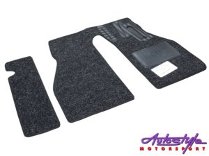 Charcoal 5pc Floor mats for Classic VW Beetle (65-74)-29423