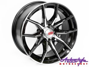 "15"" A-Line Hawk 4/100 BKMF Alloy wheels-0"