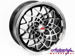 "15"" A-Line Rush 4/100 BKMF Alloy Wheels-0"