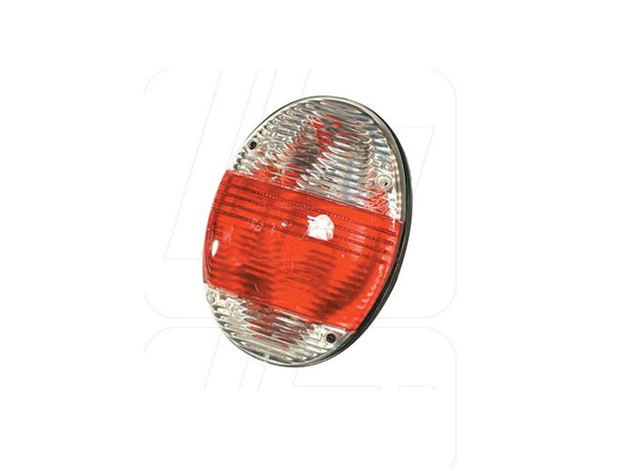VW Classic Beetle Rear Light Unit New Beetle Look with Clear and Red Lens (pair)