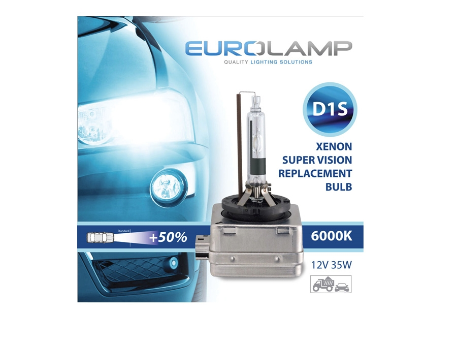 D1S Eurolamp 6000k Replacement HID Bulb (pair)
